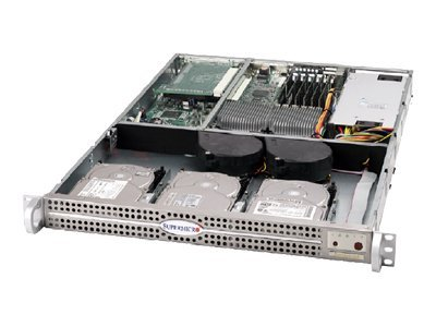 Supermicro Chassis, 1U, SC812L-350, 3 Bays, EATX, 350W PS, Black, CSE-812L-350B, 6452008, Cases - Systems/Servers