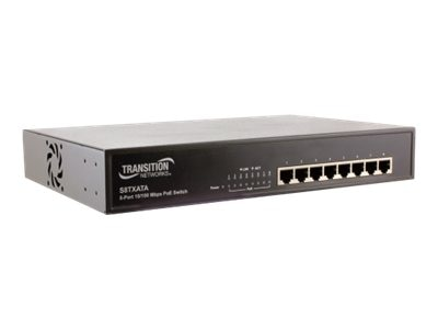 Transition 8PT Power over Ethernet Unmanaged Switch 10 100BTX Plus