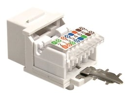 StarTech.com Tool-less Type Category 5 Keystone Jack White, KEYSTONE2WH, 5344152, Premise Wiring Equipment