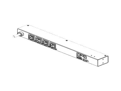 Raritan PDU 3.7kVA 230V 1-ph 16A 1U RM (4) C13, Schuko Input, PX2-2070LER, 16061385, Power Distribution Units