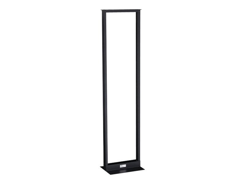 Black Box 2-Post Premier Aluminum Distribution Rack, 72 (38U) x 19w, Black Finish, RM161A-R3, 15700587, Racks & Cabinets