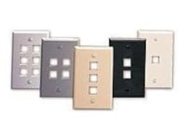 Leviton QuickPort Single-Gang 2-Port Wallplate, 41080-2WP, 7707316, Premise Wiring Equipment