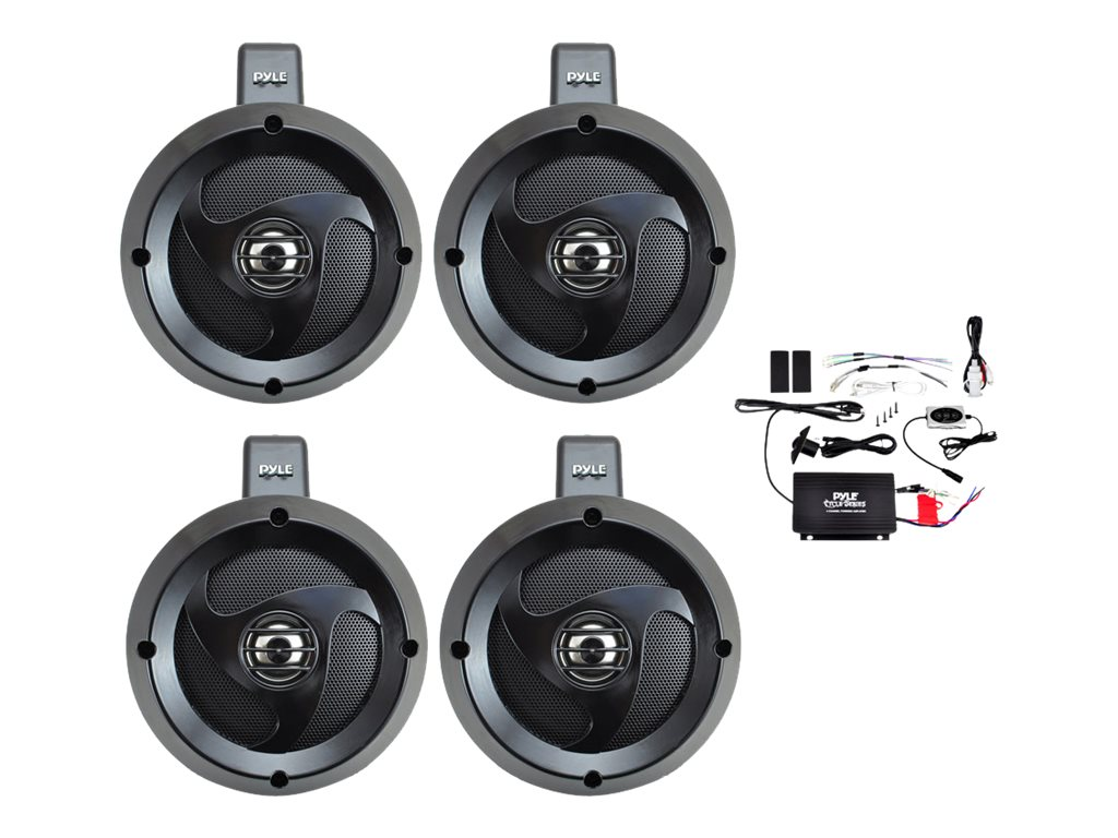 Pyle 4-Channel Waterproof BT Wakeboard Amplified Speaker System