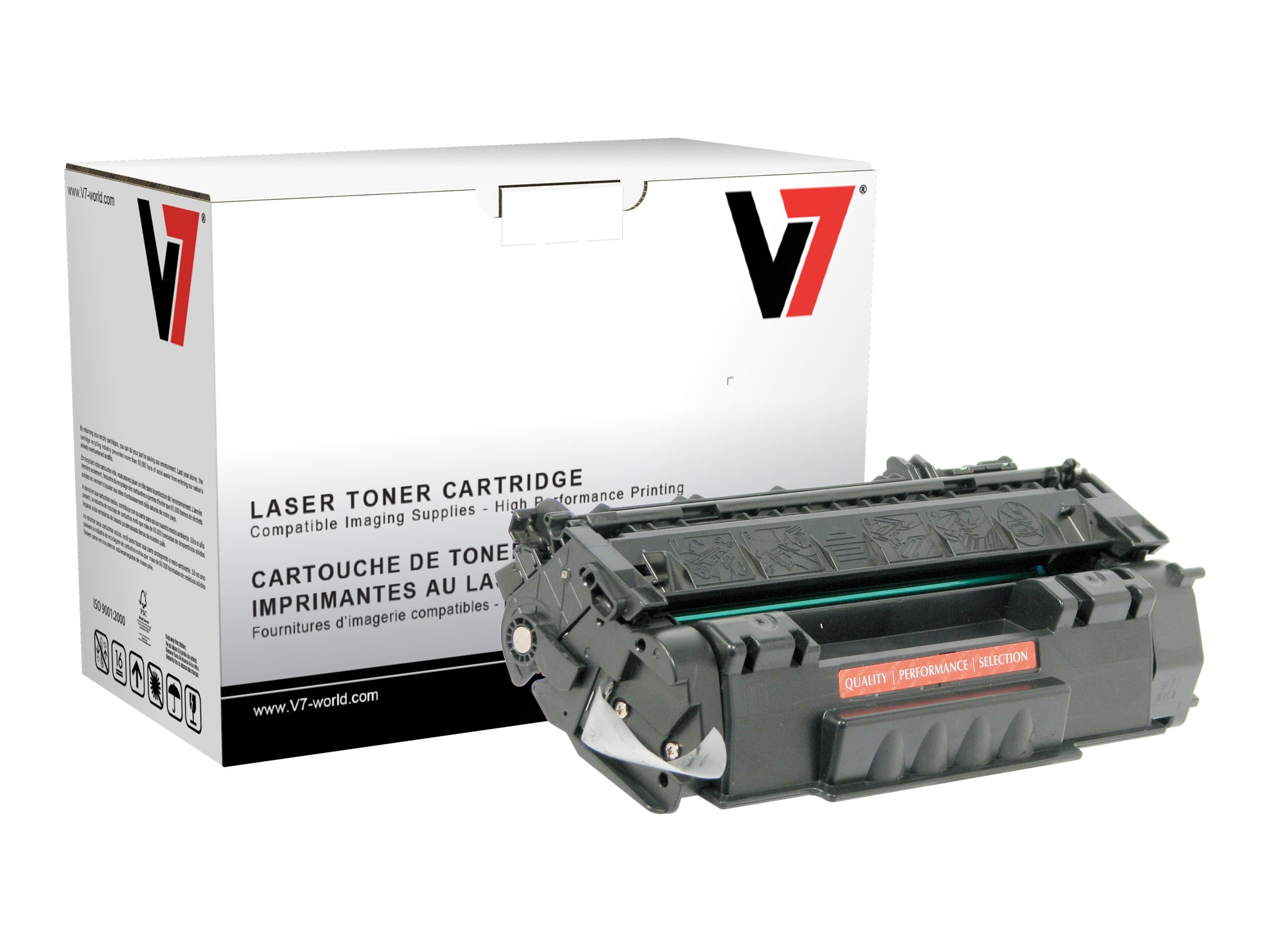 V7 Q7553A Black MICR Toner Cartridge for HP LaserJet P2015 (TAA Compliant), THK27553AM, 13757521, Toner and Imaging Components
