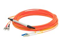 ACP-EP LC-ST 50 125 and 9 125 OM2 OS1 Multimode Singlemode Duplex Fiber Cable, Orange, 10m