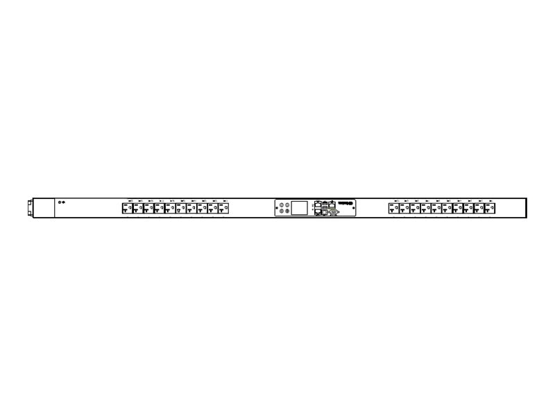Raritan PDU 1.9kVA 120V 16A 1PH 0U 5-20P Input (20) 5-20R Outlets, PX3-5405V, 18193091, Power Distribution Units