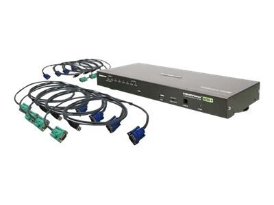IOGEAR 8-Port VGA KVM Switch, USB, TAA Compliant, with (8) USB Cables, GCS1808KITUTAA, 13347732, KVM Switches