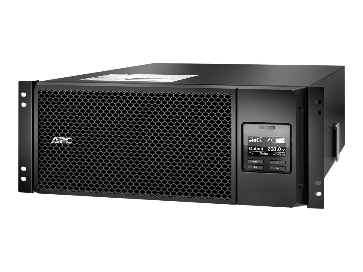 APC Smart-UPS SRT 6000VA 208V 4U RM HW Input HW + (6) C13 (4) C19 Output Extended Runtime