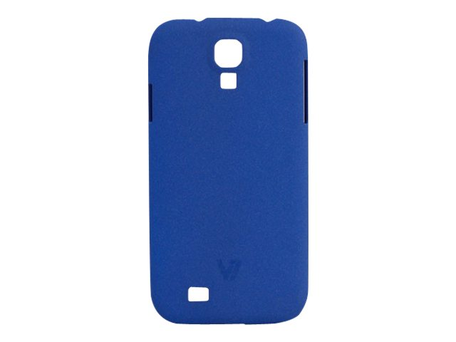 V7 Metro Anti-slip Phone Case for Samsung S4 Sand Finish PC Cover Blue, PD19BLU-14N