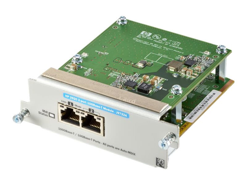 HPE Aruba 2920 2-Port 10GBase-T Module, J9732A, 15264181, Network Device Modules & Accessories