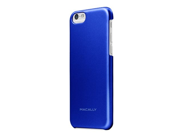 Macally Metallic Snap-On Plastic Polycarbonate Case for iPhone 6, Blue, SNAPP6MBL, 31202019, Carrying Cases - Phones/PDAs