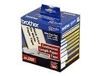 Brother 2.4 Continuous Length Paper Tape for Brother QL-500 & QL-550 Quick PC Label Printers