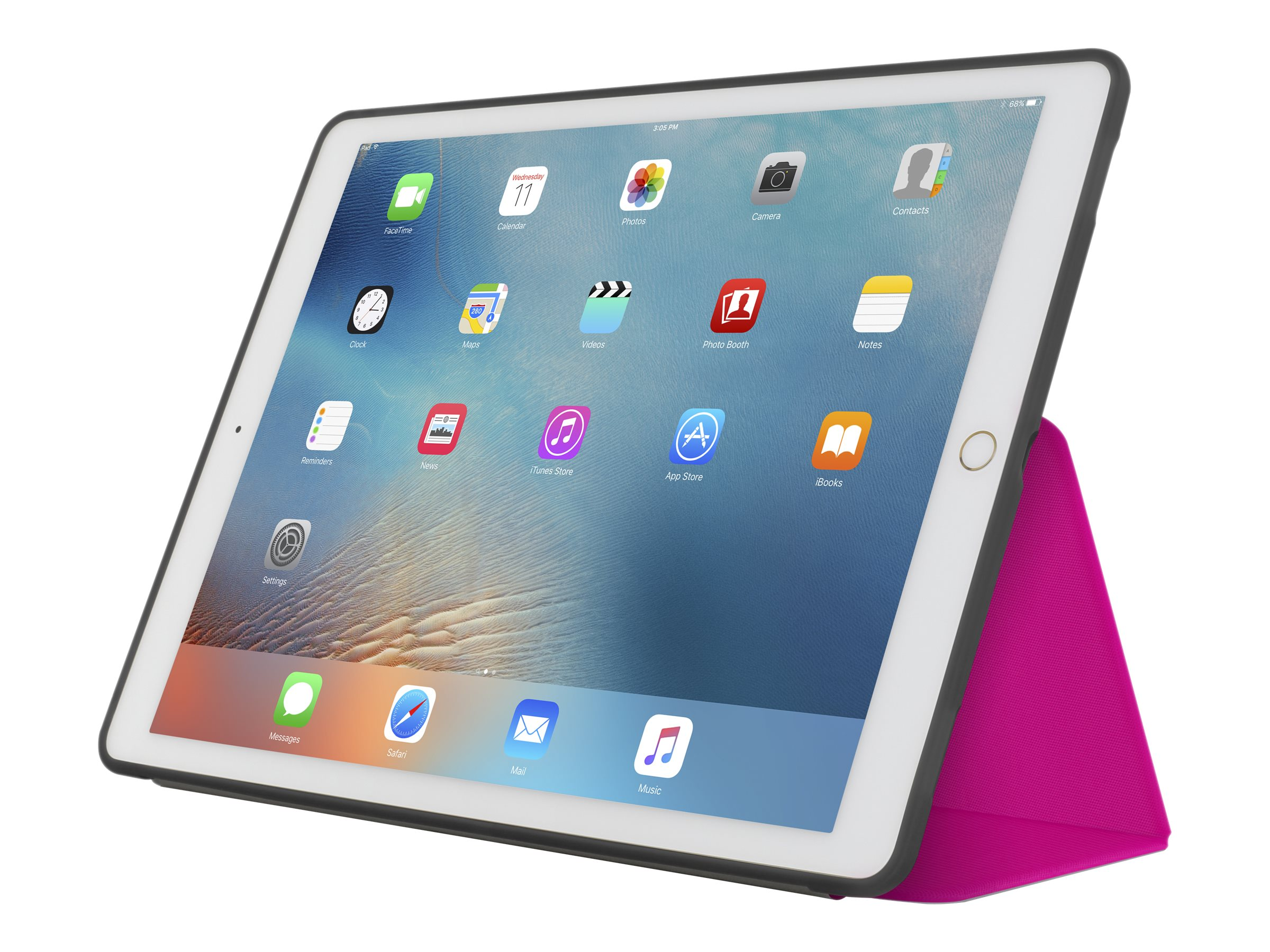 Incipio Clarion Shock Absorbing Translucent Folio for iPad Pro 12.9, Pink