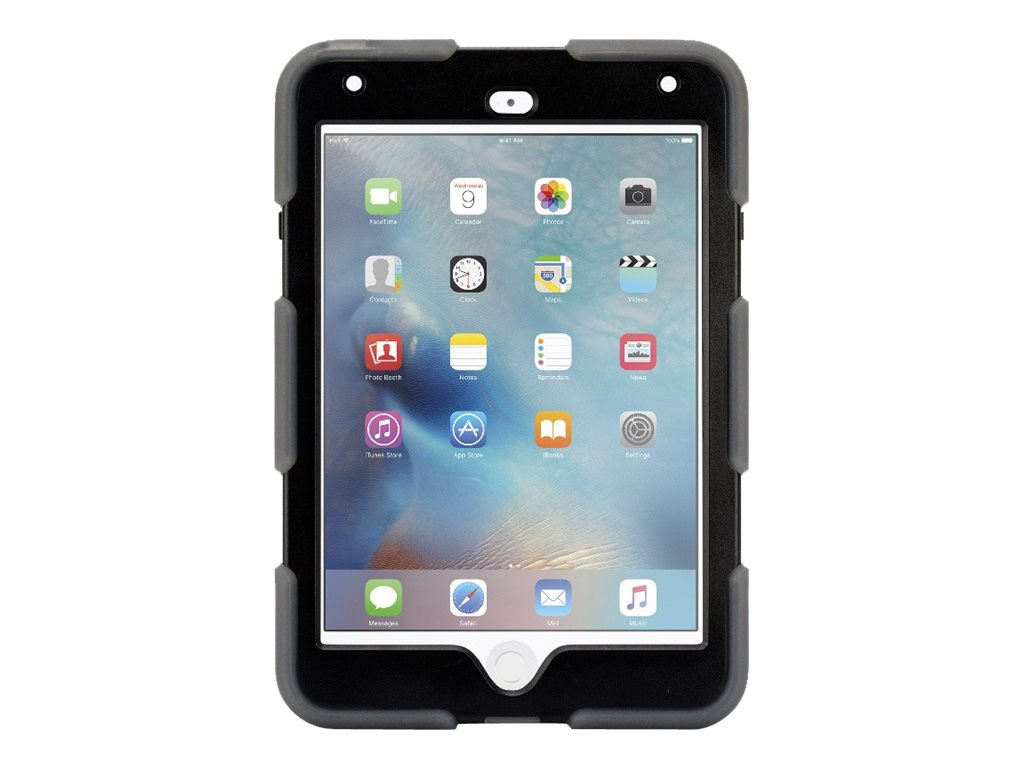 Griffin All-Terrain Military Duty Anti-Shock Case w  Stand for iPad mini 4, Smoke Black, GB41360, 30781418, Carrying Cases - Tablets & eReaders