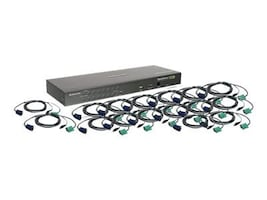 IOGEAR 16-Port KVM Switch, USB & PS 2, TAA Compliant with (16) USB Cables, GCS1716KITUTAA, 13347708, KVM Switches