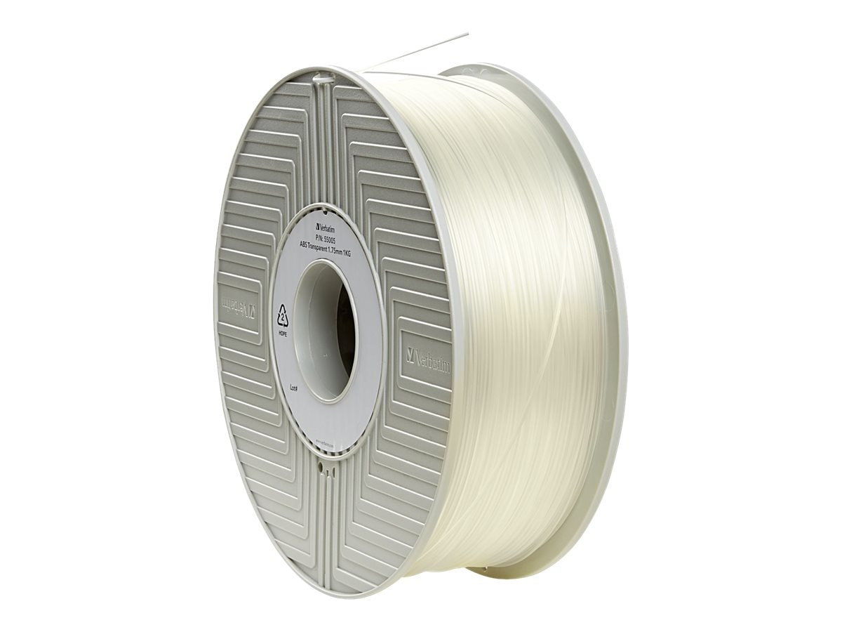 Verbatim 1.75mm Transparent ABS Filament Spool for MakerBot 3D Printers, 55005