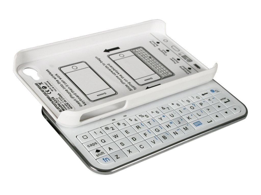 CP Technologies iPhone Case with Bluetooth Keyboard, WC-ISLIDE4W, 31190097, Cellular/PCS Accessories - iPhone