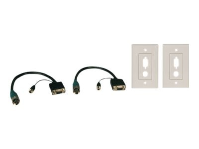 Tripp Lite Easy Pull Type-A Connectors, F F set of VGA Audio & Faceplates, EZA-VGAAF-2, 8442583, Cables