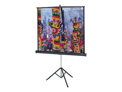 Da-Lite Versatol Tripod Keystone Eliminated Matte White Projection Screen, 1:1, 60x60in