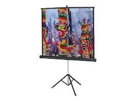 Da-Lite Versatol Tripod Keystone Eliminated Matte White Projection Screen, 1:1, 60x60in, 72262, 5848191, Projector Screens