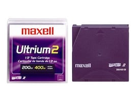 Maxell 200 400GB LTO-2 Ultrium Tape Cartridge, 183850, 421457, Tape Drive Cartridges & Accessories