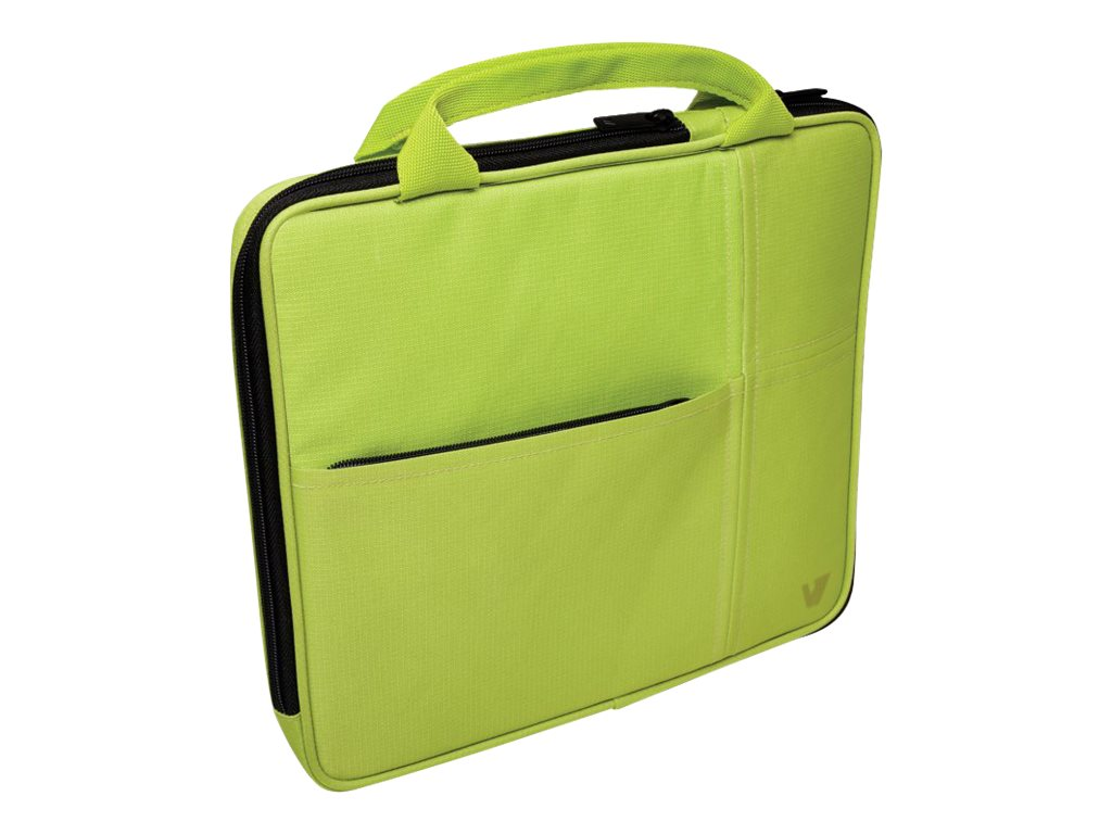 V7 Attache Slim Case for Tablet PC 9.7, iPad 1 2 3 4, iPad Air, Green, TA20GRN-1N, 16584565, Carrying Cases - Tablets & eReaders