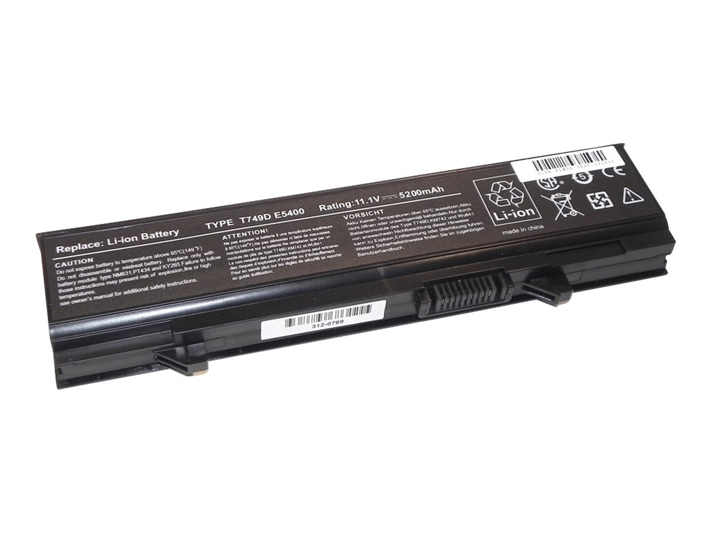 Ereplacements Compatible 6 Cell Dell Battery, 312-0762-ER, 18453796, Batteries - Notebook