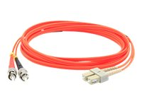 ACP-EP SC-ST 62.5 125 OM3 Duplex LSZH Multimode Fiber Cable, Orange, 40m