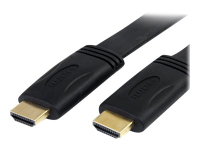 StarTech.com Flat High-Speed HDMI Cable with Ethernet (M-M), 25ft, HDMIMM25FL