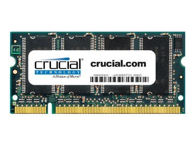Crucial 1GB PC2700 200-pin DDR SDRAM SODIMM, CT12864X335, 6511485, Memory