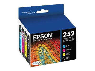Epson Black and Color 252 Standard-Capacity Ink Cartridge Combo, T252120-BCS
