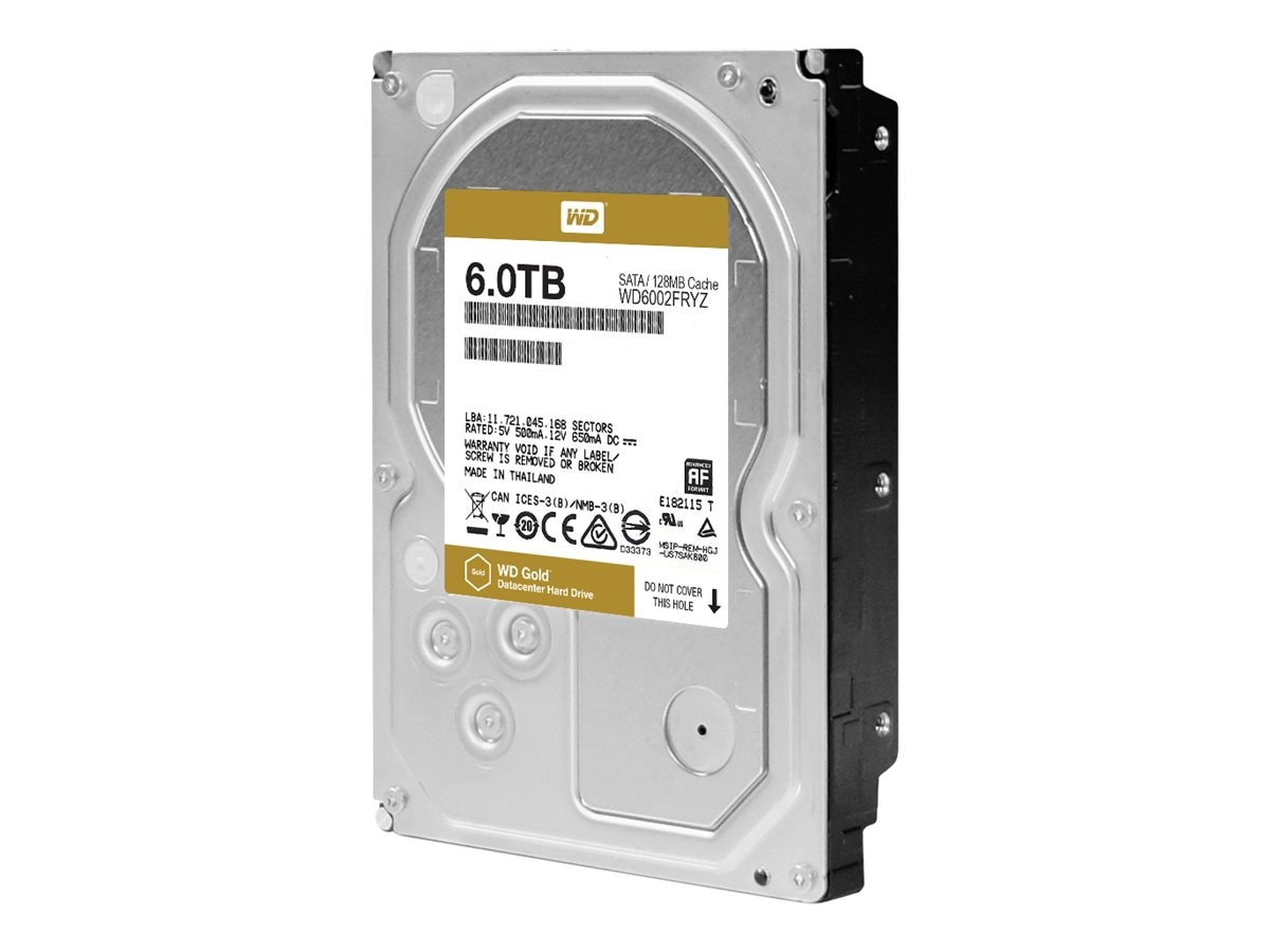 WD 6TB WD Re SATA 6Gb s 512e 3.5 Enterprise Hard Drive - 128MB Cache, WD6002FRYZ