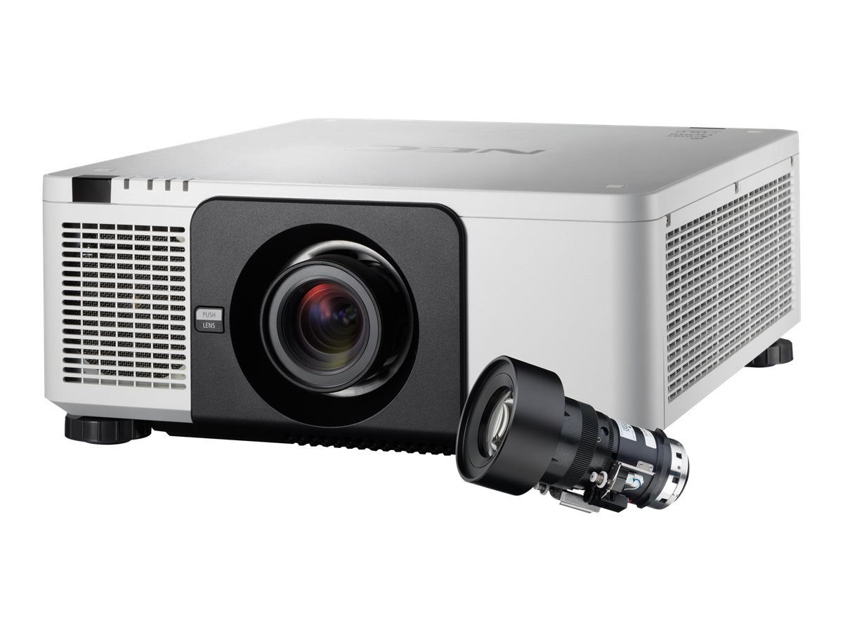 NEC PX1004UL WUXGA DLP Projector, 10000 Lumens, White with NP18ZL Zoom Lens