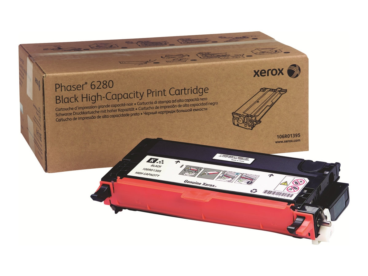 Xerox Black High Capacity Print Cartridge for Phaser 6280, 106R01395