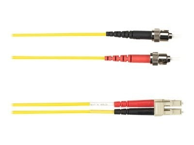 Black Box ST-LC 62.5 125 OM1 Multimode Fiber Optic Cable, Yellow, 1m, FOCMR62-001M-STLC-YL