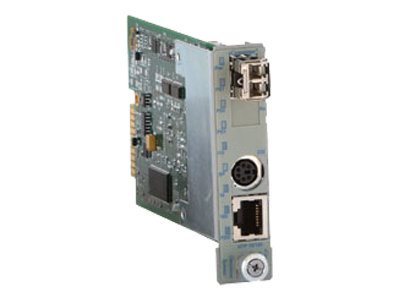 Omnitron IConverter MC 10 100M 10 100T To Option SFP w  Management, 8919-0-W, 9699137, Network Transceivers