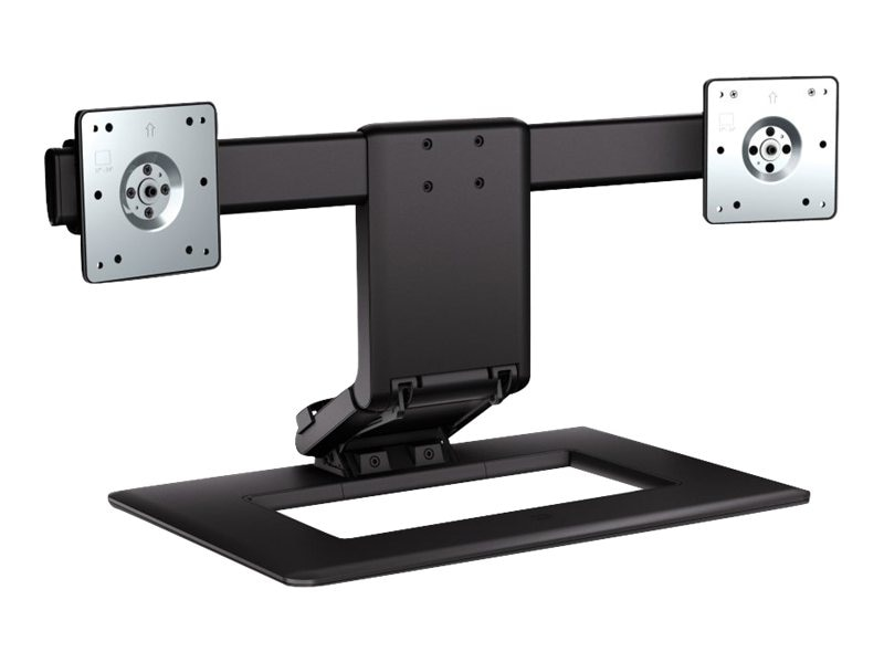 HP Adjustable Dual Stand for Flat Panels up to 24, AW664AA#ABA