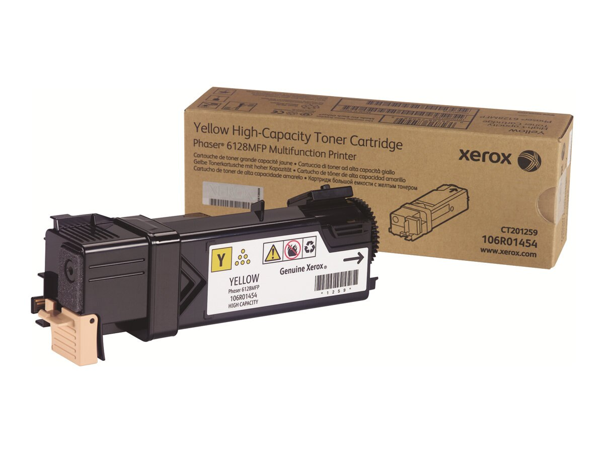 Xerox Yellow Toner Cartridge for Phaser 6128MFP, 106R01454