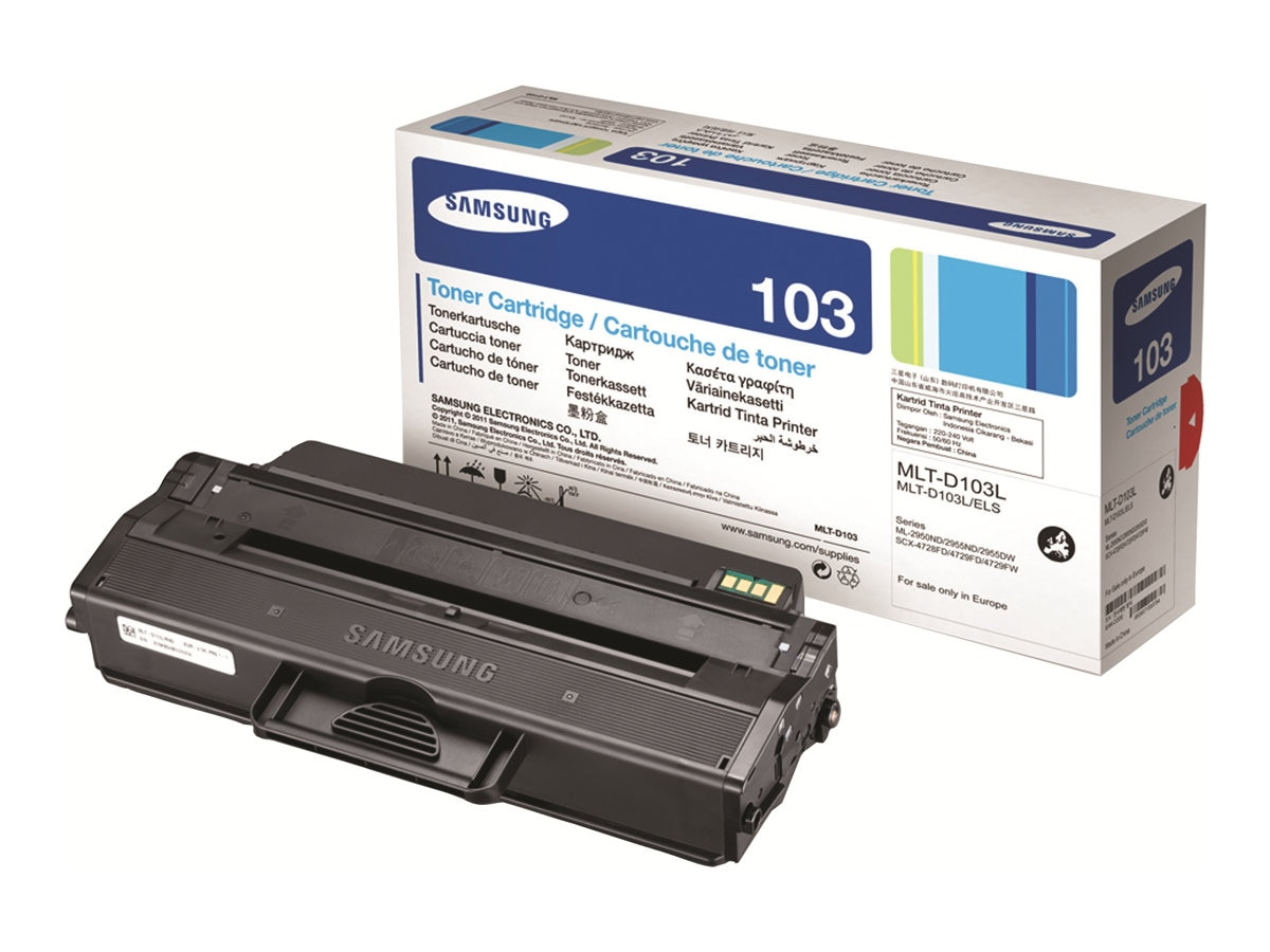 Samsung Black High Yield Toner Cartridge for ML-2950ND & SCX-4725FN, MLT-D103L