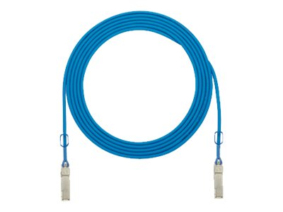 Panduit 28AWG QSFP+ 40GBASE-CR4 Copper Patch Cable, Blue, 4m, PQSFPXB4MBU, 31136550, Cables