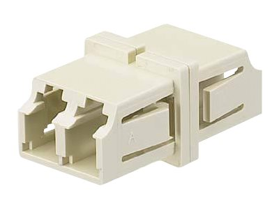 Panduit LC-LC Sr. Sr. Duplex Fiber Optic Adapter, Ivory, 50-Pack, FADSLCEI-L, 31610080, Adapters & Port Converters