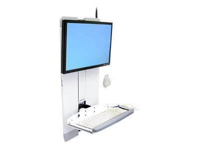 Ergotron StyleView Vertical Lift for High Traffic Areas, White, 60-593-216, 9229303, Wall Stations