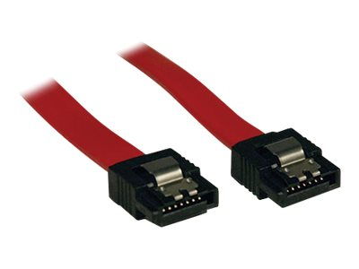 Tripp Lite Serial ATA M M Latching Signal Cable, Red, 1ft