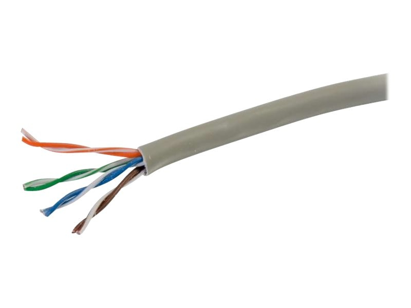 C2G Cat6 Bulk Unshielded UTP Plenum Patch Cable with Solid Conductors, Gray, 1000ft, 56020, 21325921, Cables