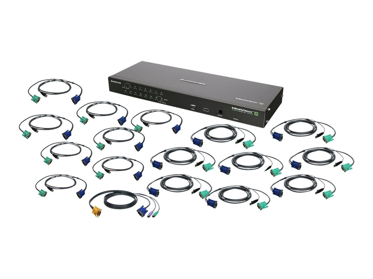 IOGEAR 16-Port IP Based KVM Kit, USB, TAA