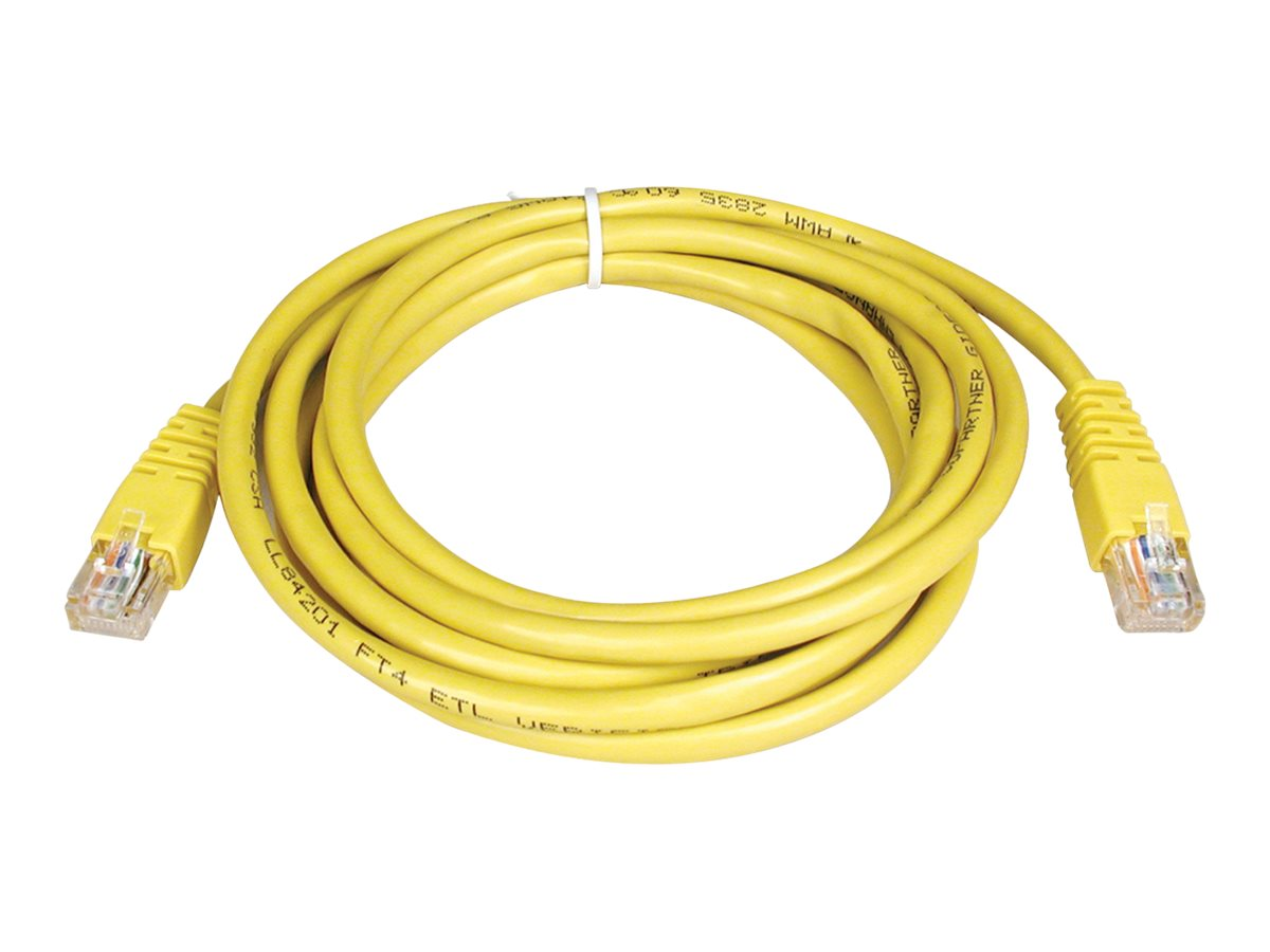 Tripp Lite Cat5e RJ-45 M M 350MHz Molded Patch Cable, Yellow, 10ft, N002-010-YW, 169166, Cables