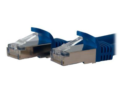 StarTech.com Cat6a Patch Cable, STP, Molded, Blue, 1ft, C6ASPAT1BL, 10147111, Cables