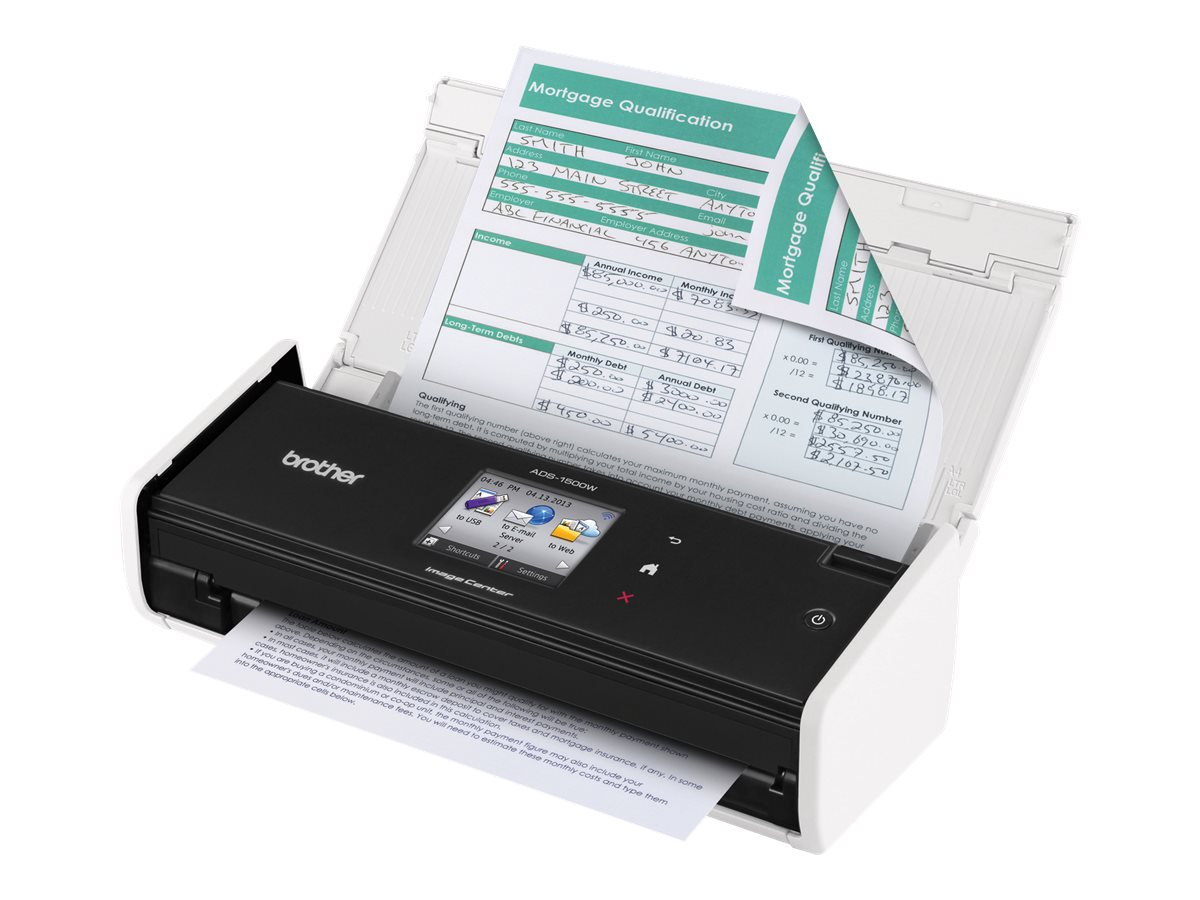 Brother ADS-1500W Color Duplex Desk Scanner