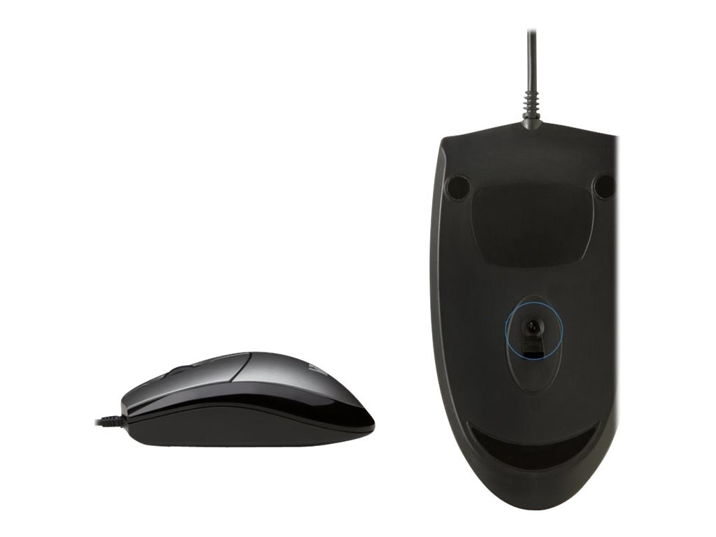 V7 MV3000 3-Button USB Wired Optical Full-size Mouse 1000dpi Universal, MV3000010-5NC