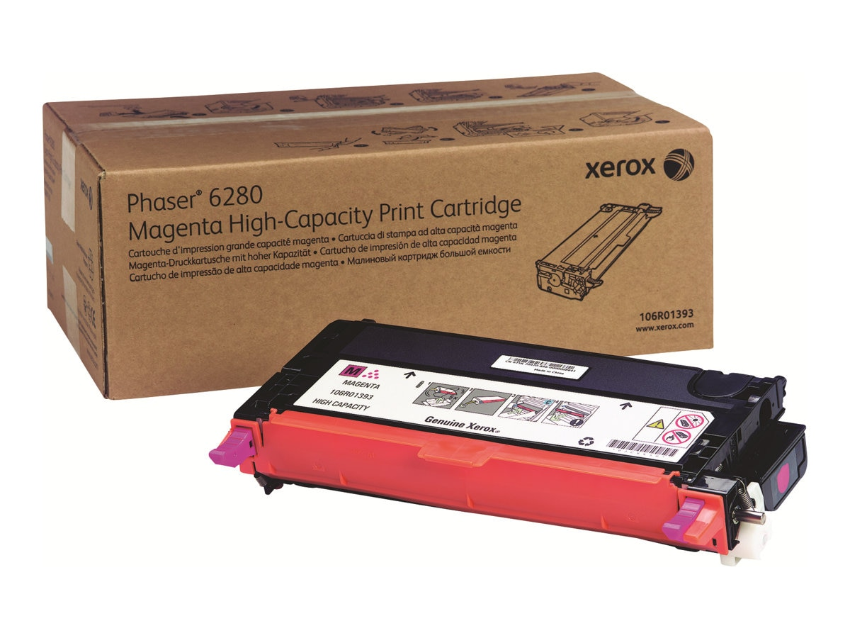 Xerox Magenta High Capacity Print Cartridge for Phaser 6280, 106R01393, 9409751, Toner and Imaging Components